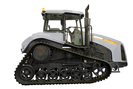 tractor under the white background Stock Photo