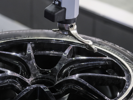 Modern tire machine in the service station