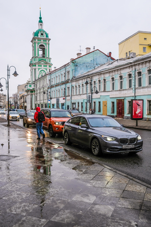 Moscow, Russia - April, 2, 2018: traffic in Mosocw