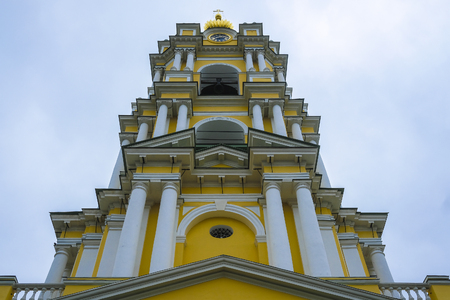 Moscow, Russia - May, 6, 2018: church in Andronnikov monastery in Moscow, Russia