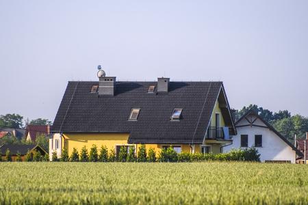 Poland, May, 31, 2018: Farm house in Poland