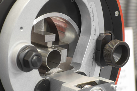 The image of metalworking saw close up