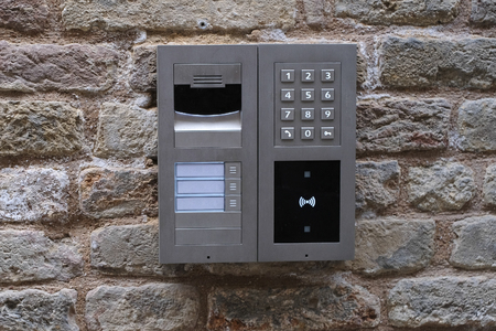 oor phone and mail box in Padova, Italy