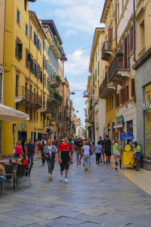 Verona, Italy - June, 16, 2018: image of streets of Verona Redakční