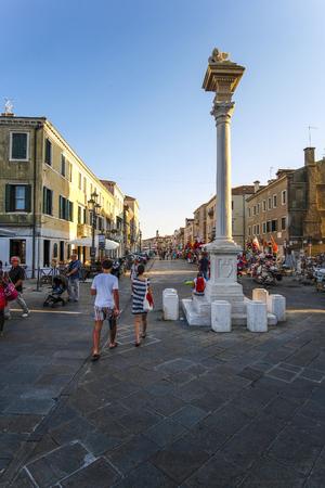 Sottomarina, Italy - June, 30, 2018: street in a center of Sottomarina, Italy Redakční
