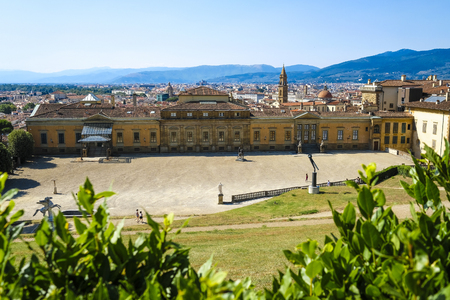 panorama of Florence, Italy from Pitti palace