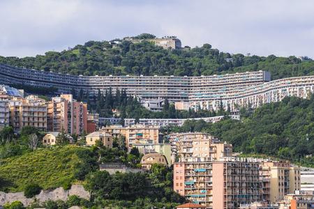 Genoa, Italy - June, 12, 2018: residential district in Genoa, Italy Stok Fotoğraf