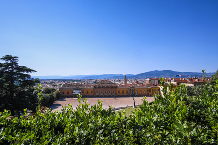 Florence, Italy - June, 5, 2017: panorama of Florence, Italy from Pitti palace