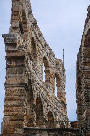 Verona, Italy - July, 15, 2018: wall of arena de Verona, Italy 免版税图像
