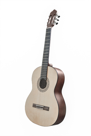 The image of a guitar isolated under the white background Banco de Imagens