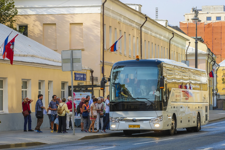 Moscow, Russia - September, 9, 2018: bus in Moscow, Russia