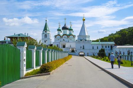 Nizhny Novgorod, Russia - August, 20, 2018: Pechersky monastery in Nizhny Novgorod, Russia