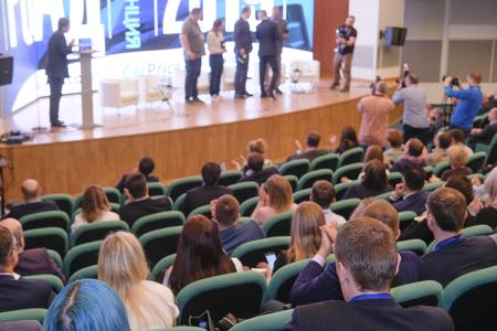 Moscou, Russie - 12 avril 2019 : conférence de l'Association des constructeurs automobiles russes à Moscou, Russie