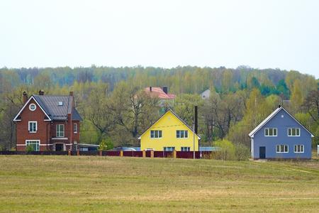 image of Village  in Spring 版權商用圖片