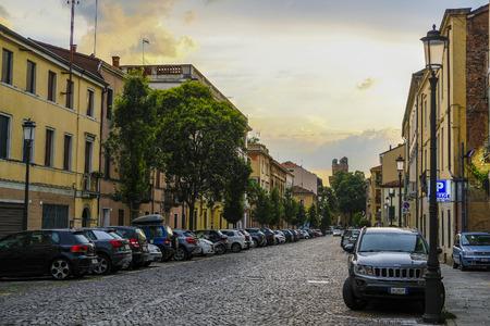 Verona, Italy - July, 11, 2019: bus in the center of Verona, Italy