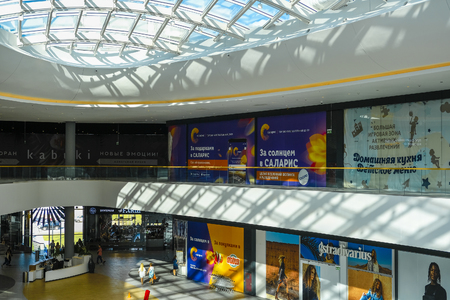 Moscow, Russia - May, 20, 2019: image of the interior of the Salaris shopping center in Moscow