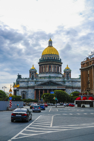 Saint Petersburg, Russia - August, 13, 2019: Saint Isaac Cathedral in Saint Petersburg, Russia