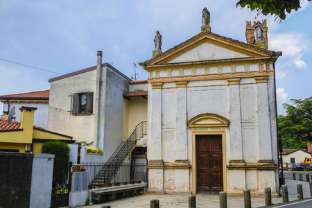 Monselice, Italy - July, 14, 2019: Catholic cathidral in Monselice, Italy 報道画像