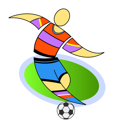 european championship: Footballer plays at the stadium at the European championship