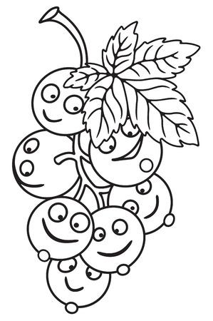 Dibujo animado fresco de la grosella Foto de archivo - 80435957