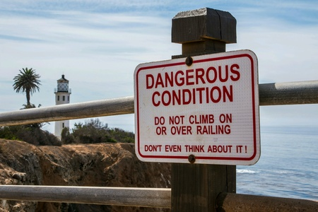 Dangerous conditions sign