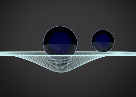 gravitational: Gravitational Waves illustration. 3D illustration
