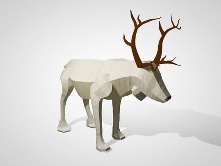 Origami Low Poly Reindeer Polygonal Geometric Style Deer Cartoon
