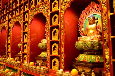 buddha image: Golden chinese buddha image