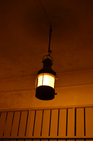 Hanging lamp under the ceiling photo