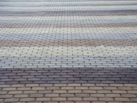 brick floor: Gris degradado y piso de ladrillo marr�n Foto de archivo