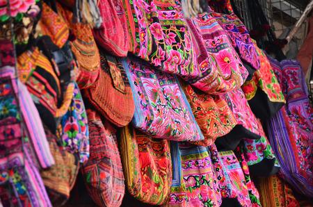 shoulder bag: Colorful hill tribe shoulder bag
