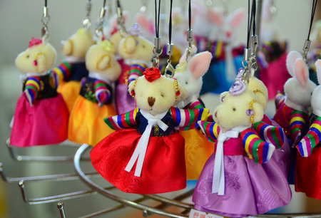 colorful dress: Korean teddy bear with colorful dress