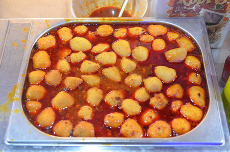 fish ball: Delicious fish ball curry soup