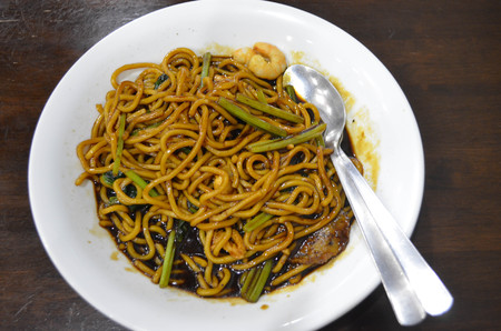mie noodles: Tasty seafood chinese noodle