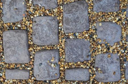 cobble: Brown Cobble Stone Pavement Texture Stock Photo
