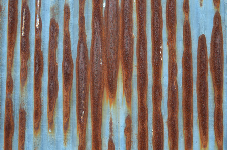 galvanize: Rust Stripe On Galvanize Sheet