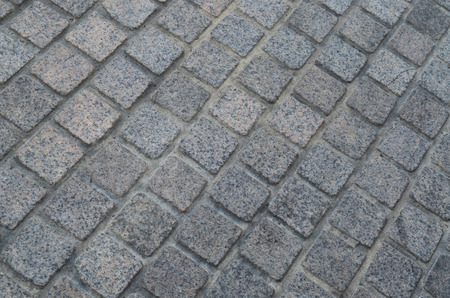 tileable: Grunge gray cement block pavement
