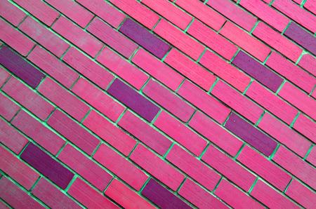 oblique: Oblique pink mansory brick wall background