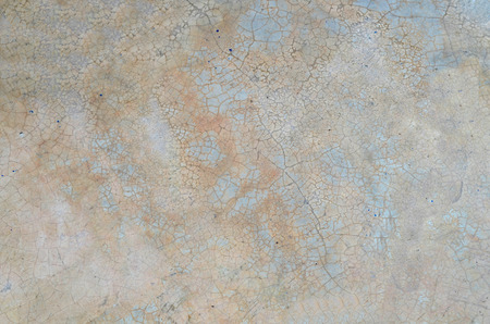 polished floor: Grunge cracked polished concrete floor with dirty stain Stock Photo