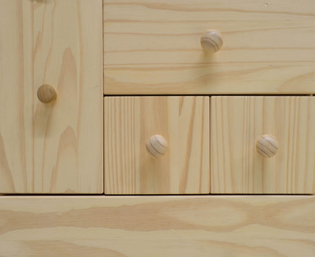 drawers: Light brown wooden drawers cabinet Stock Photo