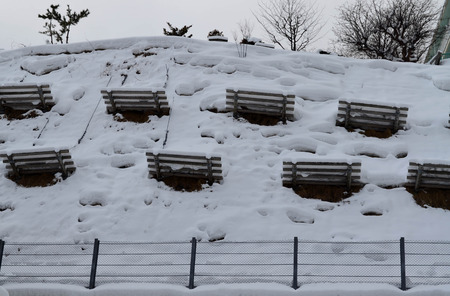 avalanche: Avalanche protection barrier from snow slide