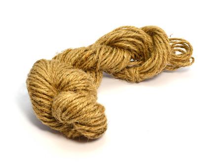 Hemp rope - isolated on white background Stock Photo