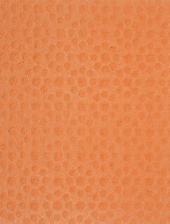 celulosa: Textura anaranjada esponja de celulosa y el fondo Foto de archivo
