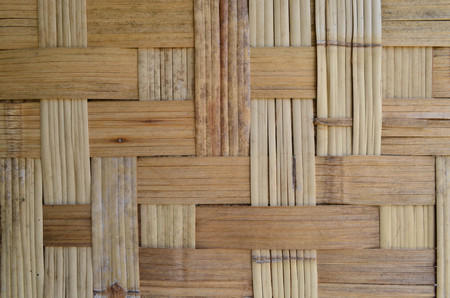 basketry: Grunge Bamboo Wooven Basketry Background Texture Stock Photo