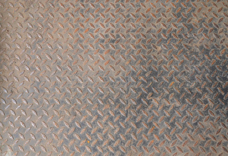 Grunge rustic diamond steel plate texture and background Stock Photo