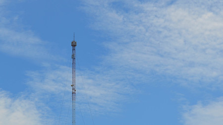 transceiver: Telecommunication tower against blue sky day