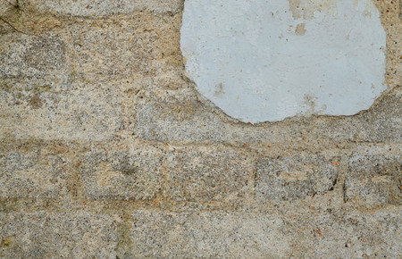 corrosion: Corrosion on aged cement wall