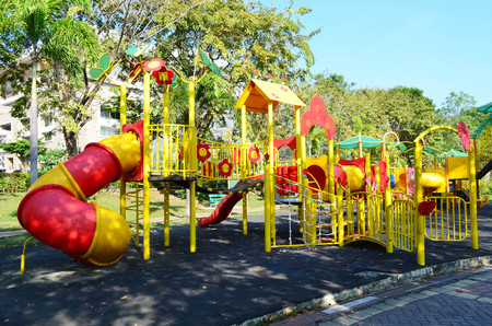Colorful Children Playground In Public Park
