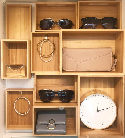 Accessories display cabinet in modern house or shopping mall, front view Stock fotó