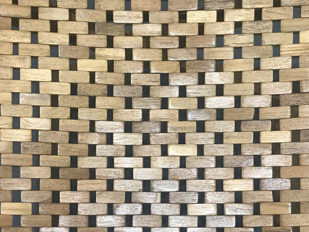 Pattern of brown wood wicker for background and texture